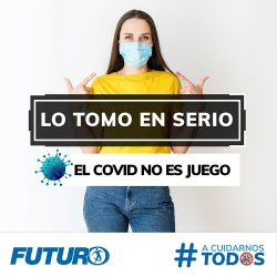 """""""El covid es una enfermedad que no tiene preferencias por ningún tipo de personas"""". Súmate #ACuidarnosTodos. #FuturoSeguros #LoTomoEnSerio #ElCovidNoEsJuego"""